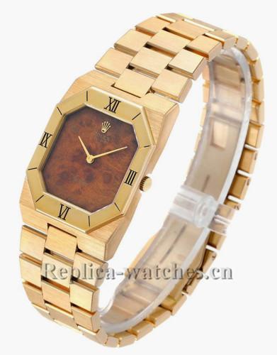 Replica Rolex Cellini 4350  Scratch resistant Wooden Dial Movemen Mens Watch