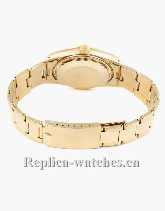 Replica Rolex Date 15037 Black Dial oyster bracelet clasp 34mm Mens Watch