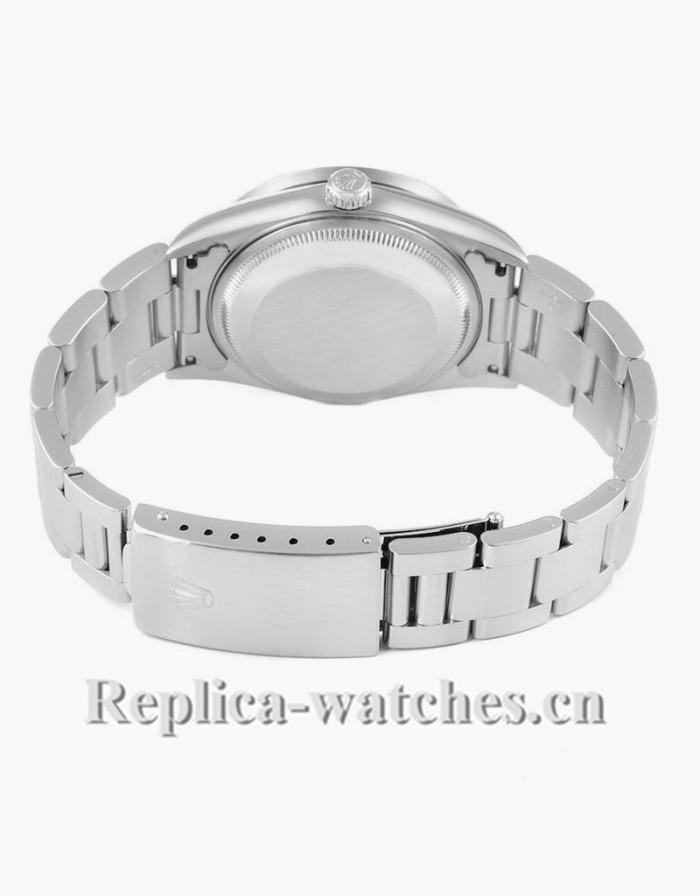 Replica Rolex Date Salmon Dial Oyster Bracelet Steel 15210 34mm Mens Watch