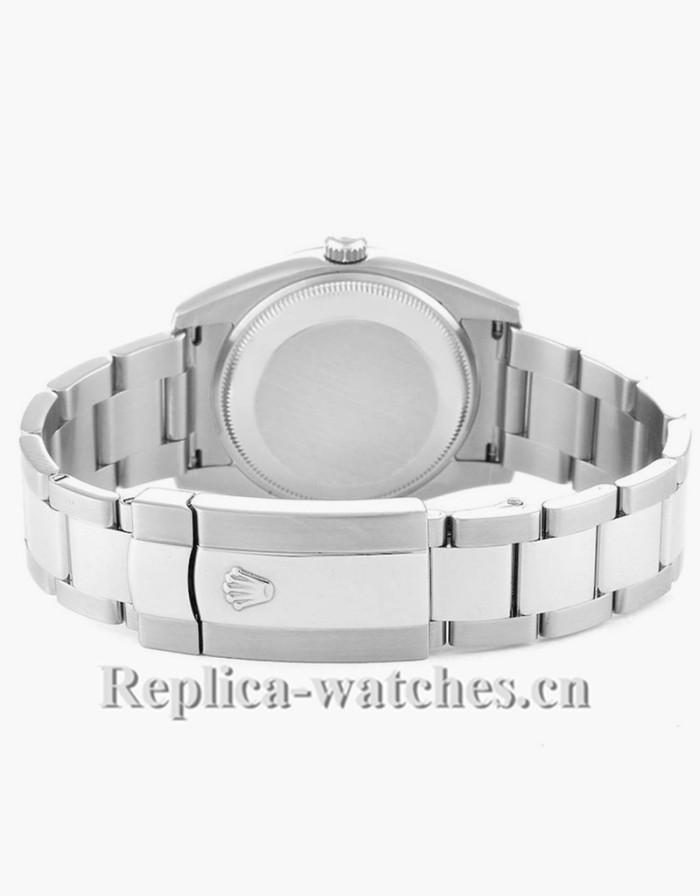 Replica Rolex Date 115200 Black Dial Oyster Bracelet Steel 34mm Mens Watch Box Card