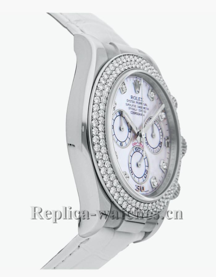 Replica  Rolex Daytona 116589RBR  white alligator strap white dial 40mm Mens Automatic watch