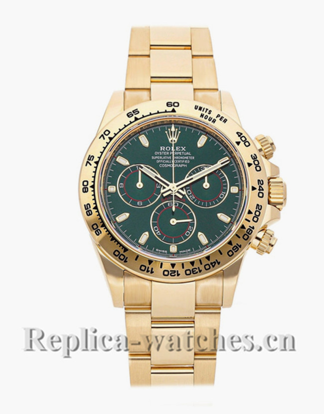 Replica  Rolex Daytona 116508 Green dial 40mm Automatic Mens watch papers