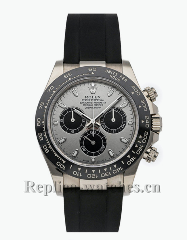 Replica  Rolex  Daytona 116519LN black Cerachrom bezel black dial  40mm Mens watch