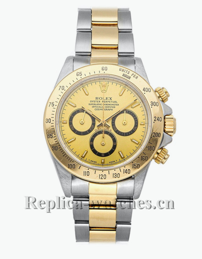 Replica  Rolex Daytona 16523  stainless steel  champagne dial 40mm  Mens Automatic watch