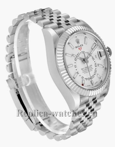 Replica Rolex Sky-Dweller 326934  Stainless steel case 42mm White Dial Mens Watch Unworn