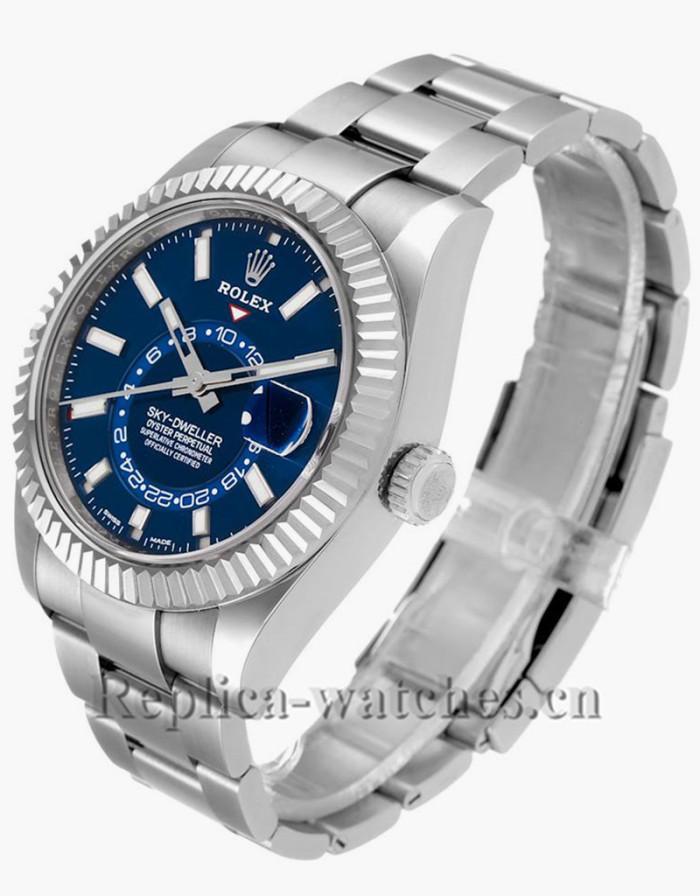Replica Rolex Sky-Dweller 326934 Blue Dial Stainless steel case 42mm  Mens Watch