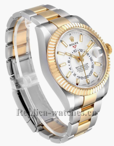 Replica Rolex Sky Dweller 326933 Stainless steel 42mm White Dial Mens Watch