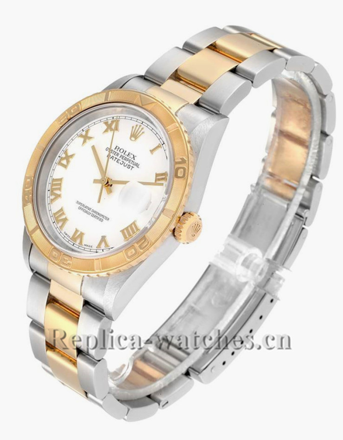 Replica Rolex Datejust 16263  Stainless steel case 36mm  White Dial  Mens Watch
