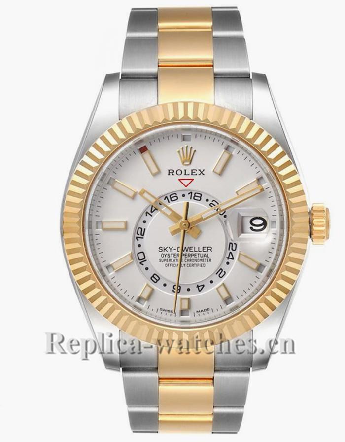Replica Rolex Sky Dweller 326933 Movement High-performance 42mm White Dial Mens Watch