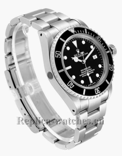 Replica  Rolex Seadweller 16600 40mm Black Dial Steel Mens Watch  Box Papers
