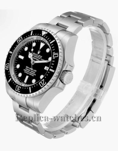 Replica  Rolex Seadweller 126660 Deepsea 44mm Ceramic Bezel Black dial Mens Watch