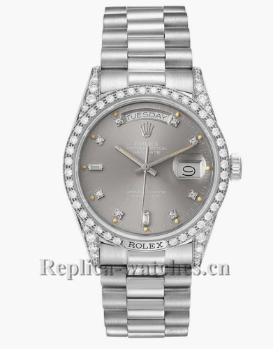Replica  Rolex President Day-Date Oyster case 36mm 18139  grey dial Mens Watch