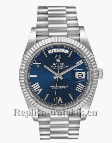Replica  Rolex President Day-Date 228239  40mm Blue Dial Mens Movement Watch