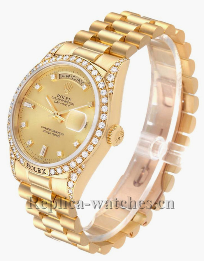 Replica Rolex President Day-Date 18388 Oyster case 36mm Champagne dial Mens Watch