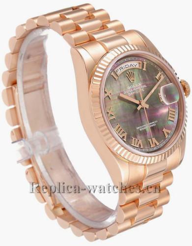 Replica Rolex President Day Date 118235 Black Dial 36mm Mens Movement Watch  Box Card