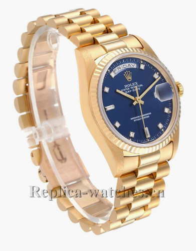 Replica Rolex President Day-Date 18238 36mm Blue with purple hew dial  Mens Watch
