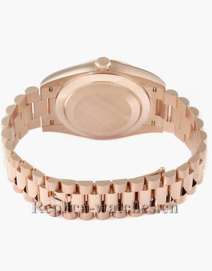 Replica Rolex President Day-Date 228235 40mm  Chocolate Dial Mens Movement Watch  Unworn