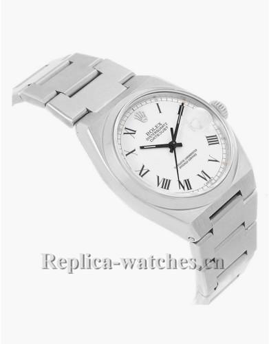 Replica Rolex Oysterquartz Datejust 17000 White Buckley Dial 36mm Vintage Mens Watch