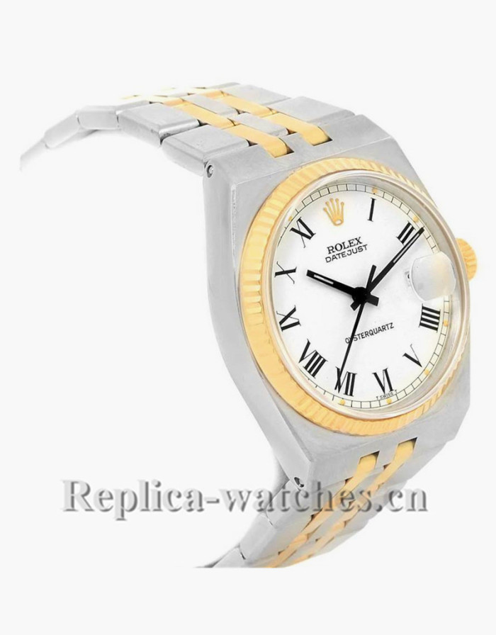Replica Rolex  Datejust 17013 oyster case 36mm White Buckley dial Mens Watch