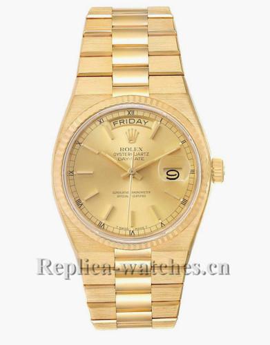 Replica Rolex  President Day-Date 19018 Oyster quartz 36mm Champagne dial Mens Watch