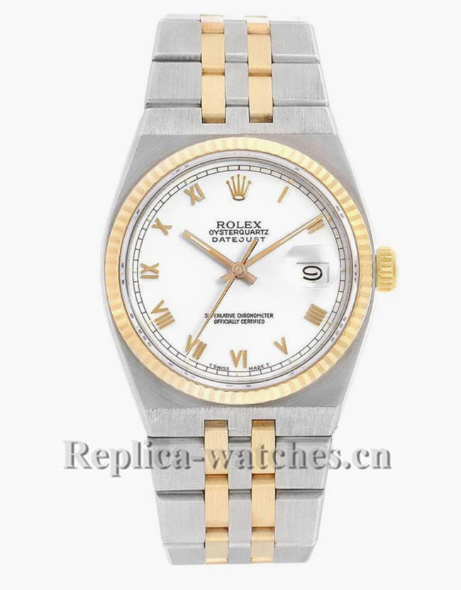 Replica Rolex  Datejust 17013 Oyster quartz 36mm  Yellow  Dial  Mens Movement Watch