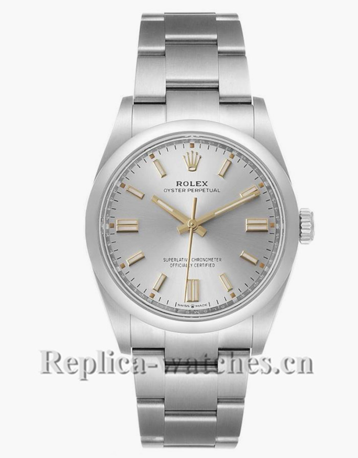 Replica Rolex Oyster Perpetual 126000 Stainless steel case 36mm Silver Dial Mens Watch  Unworn