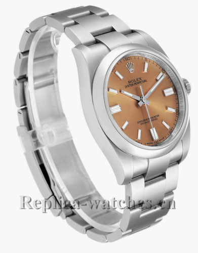 Replica Rolex Oyster Perpetual 116000  Stainless steel case 36mm White Grape Dial Mens Watch