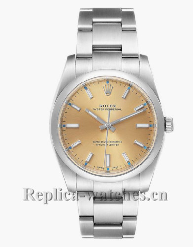 Replica Rolex Oyster Perpetual  114200 Stainless steel case 34mm White Grape Dial  Mens Watch