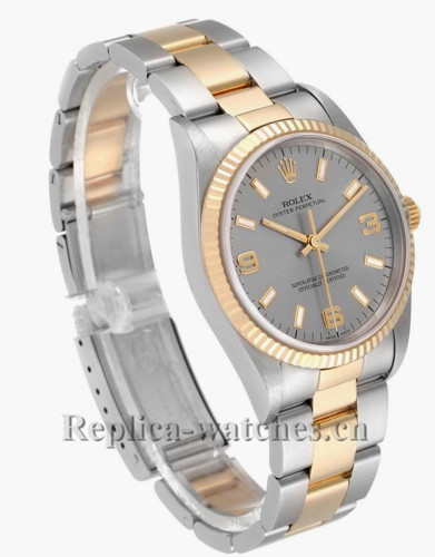 Replica Rolex Oyster Perpetual 14233 Stainless steel  case Slate 34mm Dial Mens Watch