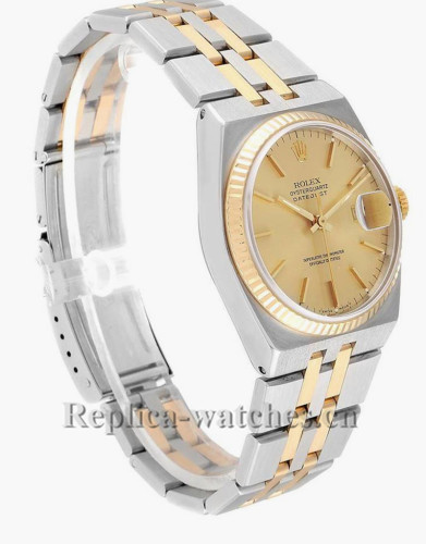 Replica Rolex Oysterquartz Datejust  17013 Stainless steel  36mm Champagne dial  Mens Watch