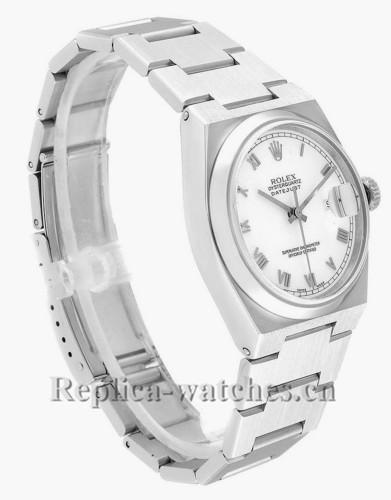 Replica Rolex Oysterquartz Datejust 17000 White Roman Dial Vintage Mens Watch