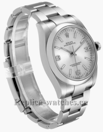 Replica Rolex Oyster Perpetual 116000  Stainless steel case 36 Silver Dial Mens Watch
