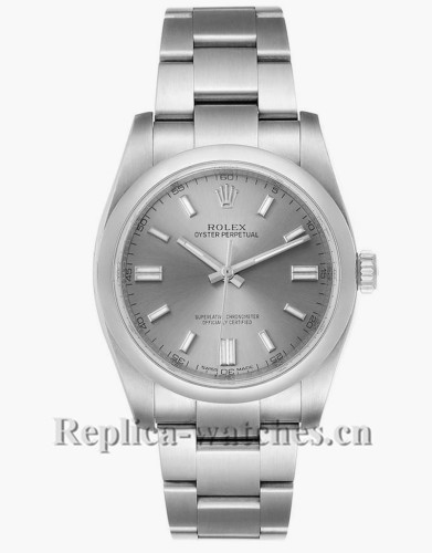 Replica Rolex Oyster Perpetual 116000 Stainless steel case 36mm Rhodium Dial Mens Watch