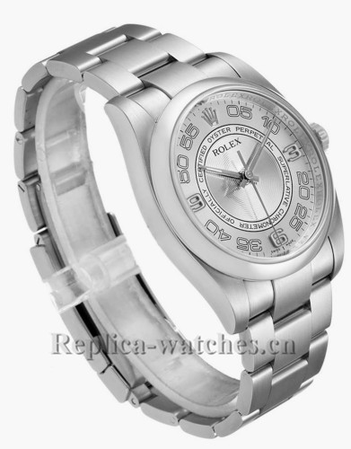 Replica Rolex Oyster Perpetual 116000 Stainless steel case 36mm Silver Concentric Dial Mens Watch