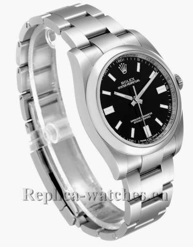 Replica Rolex Oyster Perpetual 116000 Stainless steel case 36mm Black Dial Mens Watch