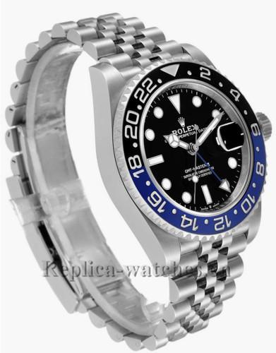 Replica Rolex GMT Master II 126710  Black Blue Batman Jubilee 40mm Black lacquer dial Mens Watch Unworn