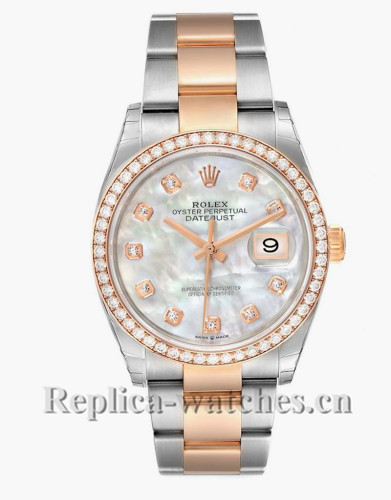 Replica Rolex Datejust 126281 Stainless steel  36mm Mother of pearl dial  Unisex Watch