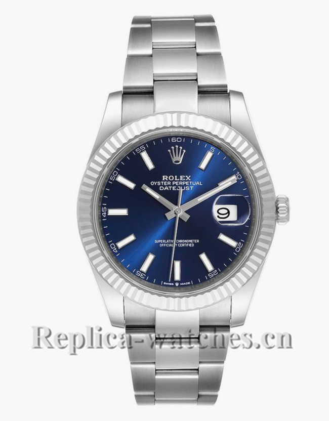 Replica Rolex Datejust 126334 Stainless steel case 41mm Blue dial Mens Watch