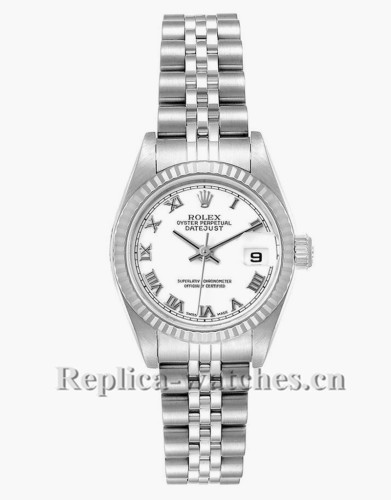 Replica Rolex Datejust 79174 Stainless steel oyster case 26mm White Dial Ladies Watch