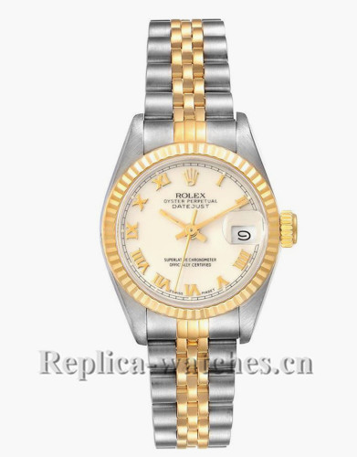 Replica Rolex Datejust 69173  Stainless steel 26mm White dial Ladies Movement Watch