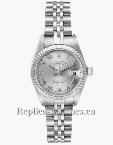 Replica Rolex Datejust 79174 Stainless steel oyster case 26mm Silver Dial Ladies Watch