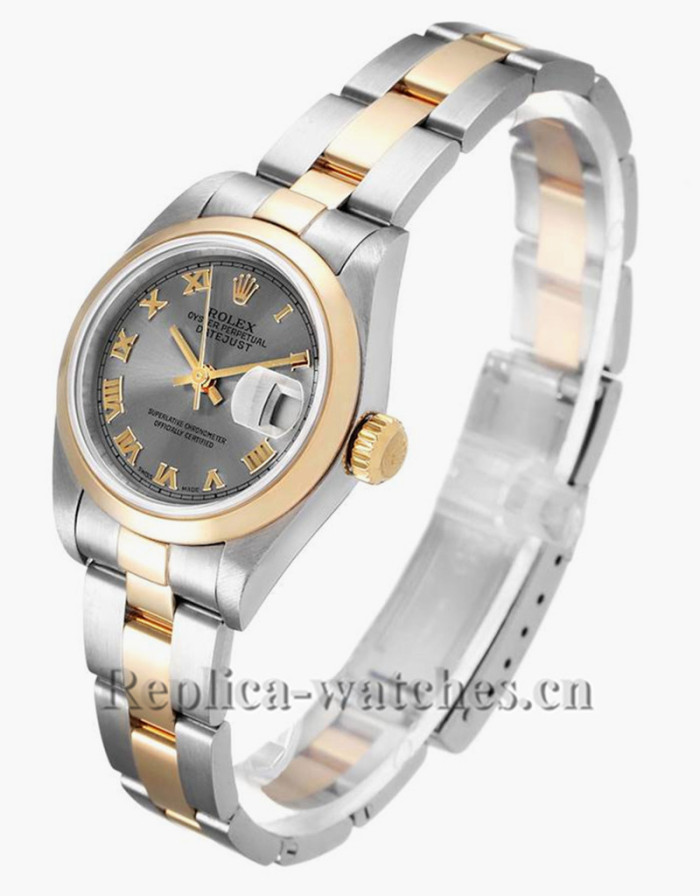 Replica Rolex Datejust 79163 Stainless steel oyster case 26mm Slate Dial Ladies Watch