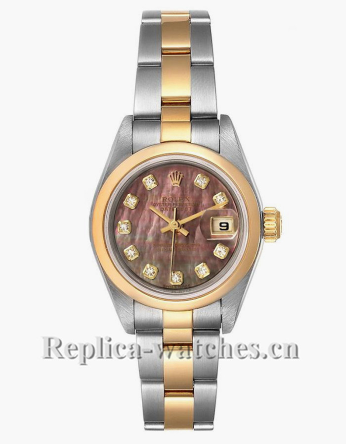 Replica Rolex Datejust 79163 Stainless steel oyster case 26mm MOP Diamond Ladies Watch