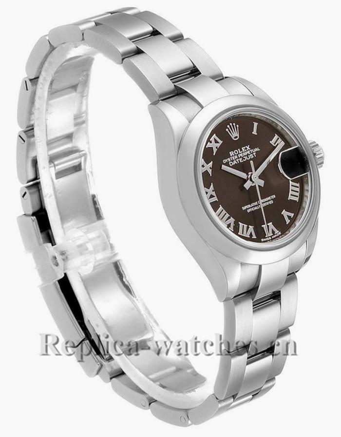 Replica Rolex Datejust 279160  Brown Dial 28mm Oyster Bracelet Steel Ladies Watch