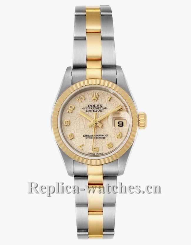 Replica Rolex Datejust 79173 Stainless steel oyster case 26mm Ivory Anniversary Dial Ladies Watch