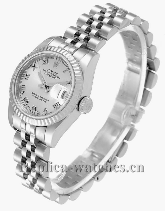 Replica Rolex Datejust 179174 Stainless steel oyster case 26mm Silver Dial Ladies Watch