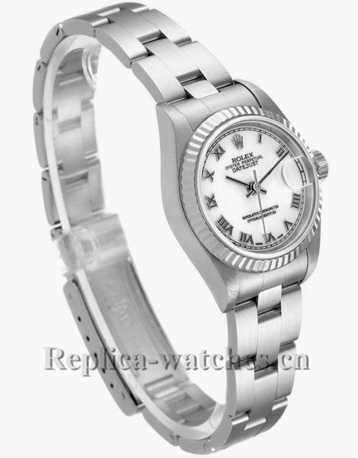 Replica Rolex Datejust 79174 Stainless steel oyster bracelet 26mm White Dial Ladies Watch