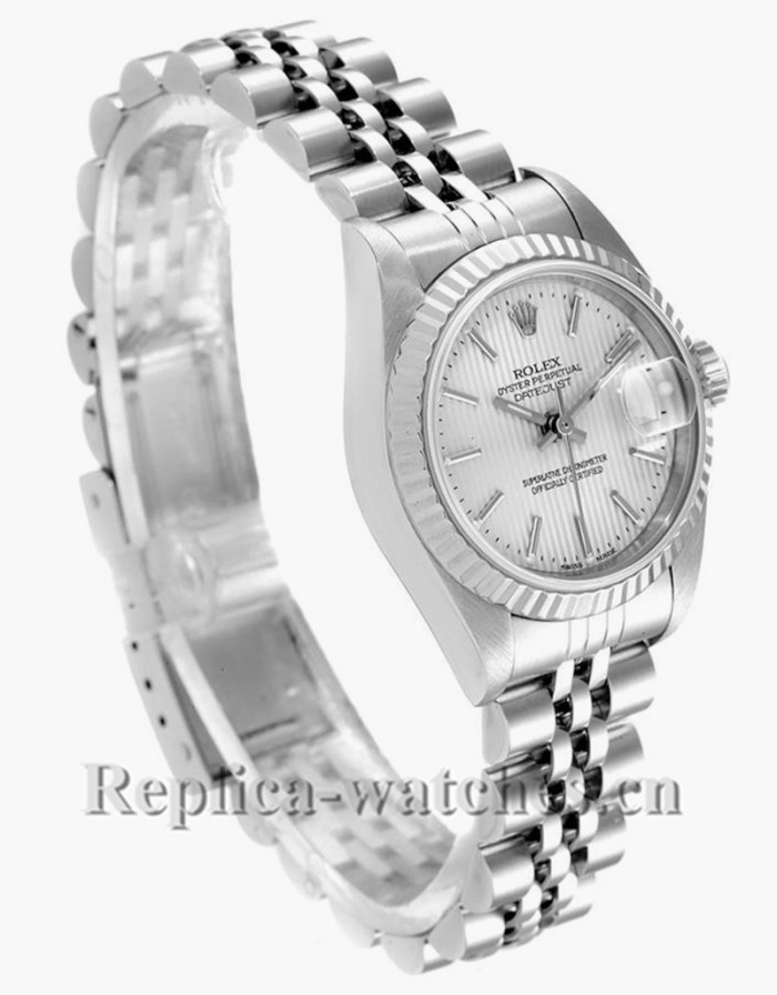 Replica Rolex Datejust 79174 Stainless steel oyster case 26mm Silver Dial Watch
