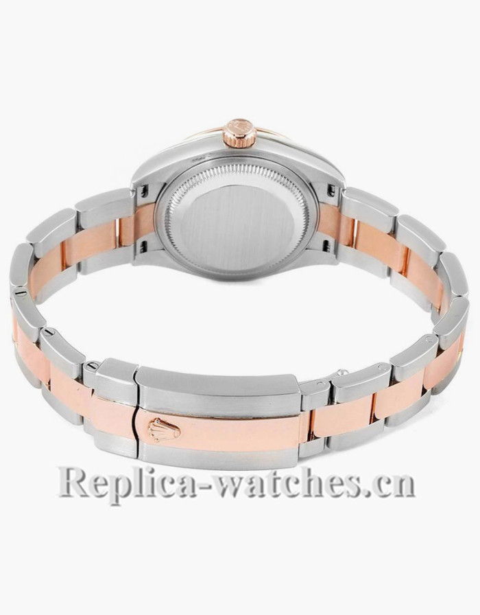 Replica Rolex Datejust 279161 Stainless steel oyster case 28mm Olive Green Diamond Ladies Watch