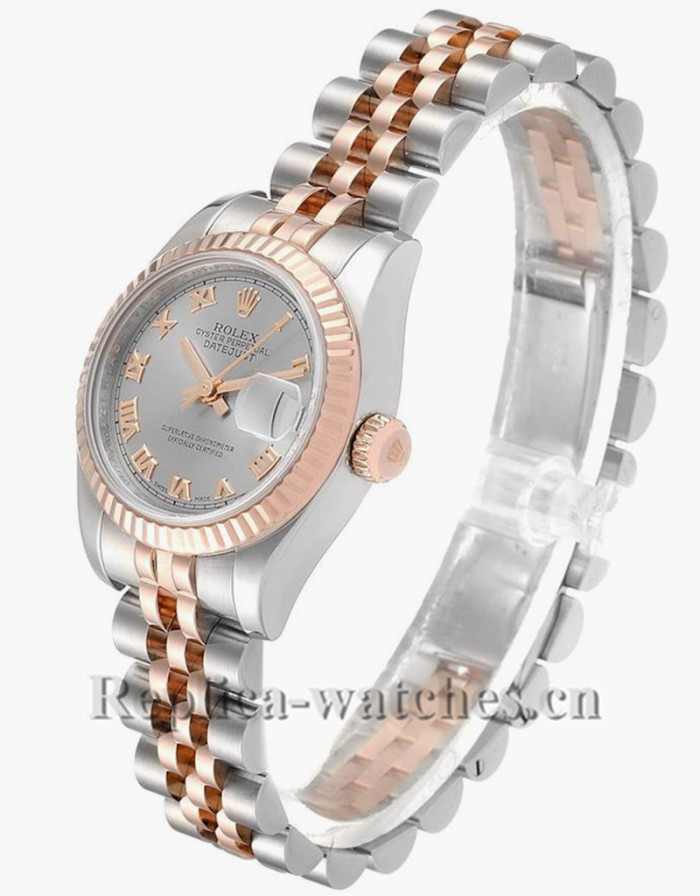 Replica Rolex Datejust 179171 Stainless steel oyster case 26.mm Slate Dial Ladies Watch